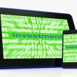 Investment Tablet Means Lending And Investing For Return — Stock Photo #47831601