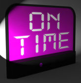 On Time Digital Clock Means Punctual And Not Late — Stock Photo