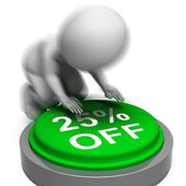 Twenty-Five Percent Off Pressed Means 25 Reduced Price — Stock Photo