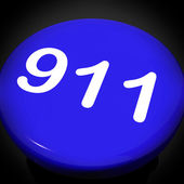 Nine One Switch Shows Call Emergency Help Rescue 911 — Stock Photo