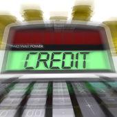 кредитный расчетные средства займа денег и финансирование — Стоковое фото