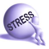 Stress Uphill Sphere Shows Tension And Pressure — Stock Photo