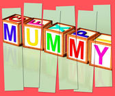 Mummy Word Mean Mum Parenthood And Children — Stockfoto