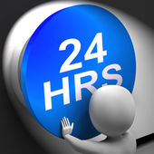 Twenty Four Hours Pressed Shows 24H  Availability — Stock Photo