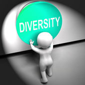 Diversity Pressed Means Variety Difference Or Multi-Cultural — Stock Photo
