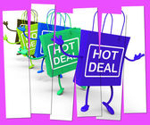 Hot Deal Shopping Bag that Shows Sales, Bargains, and Deals — Stock Photo