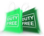 беспошлинные покупки мешок представляет скидки налогового освобождения — Стоковое фото