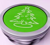 Xmas дерево переключателя означает счастливого рождества — Стоковое фото