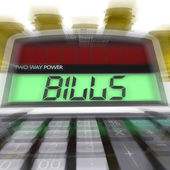 Bills Calculated Shows Accounts Payable And Due — Stock Photo