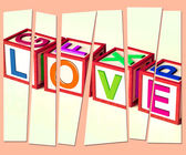 Love Letters Show Romance Affection And Devotion — Foto Stock