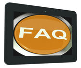 FAQ Tablet Shows Frequently Asked Question — Stock Photo