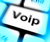 Voip Keyboard Means Voice Over Internet Protocol Or Broadband Te — Stock Photo