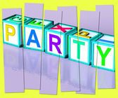 Party Word Mean Function Celebrating Or Drinks — Stock Photo