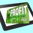 Profit on Credit Debit Card Calculated Shows Earn Money — Stock Photo