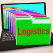 Постер, плакат: Logistics Folders Laptop Mean Planning Organization And Coordina
