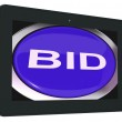 Bid Tablet Shows Online Auction Or Bidding — Stock Photo #47842485