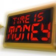 Time Is Money Digital Clock Shows Valuable And Important Resourc — Stock Photo #47842967