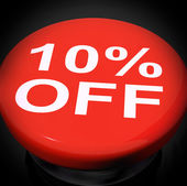 Ten Percent Switch Shows Sale Discount Or 10 Off — Stock Photo