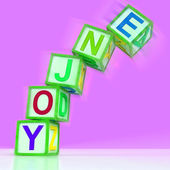 Enjoy Letters Mean Recreation Play Or Fun — Stock Photo