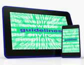 Guidelines Tablet Means Instructions Protocols And Ground Rules — Stock Photo