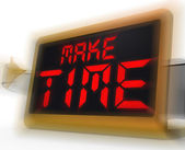 Make Time Digital Clock Means Fit In What Matters — Stock Photo