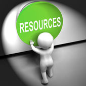 Resources Pressed Means Funds Capital Or Staff — Stock Photo
