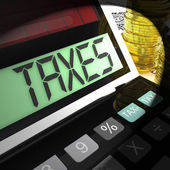 Taxes Calculated Shows Income And Business Taxation — Stock Photo