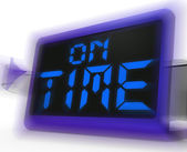 On Time Digital Clock Shows Punctual And Reliable — Stock Photo