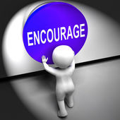 Encourage Pressed Means Inspire Motivate And Energize — Stock Photo