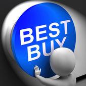 лучшая покупка нажатии показывает продукт высшего качества — Стоковое фото