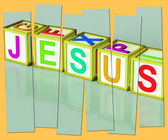 Jesus Word Show Son Of God And Messiah — Stock Photo