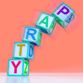 Party Letters Mean Celebration Event Or Socializing — Stock Photo
