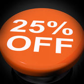 Twenty Five Percent Switch Shows Sale Discount Or 25 Off — Stock Photo