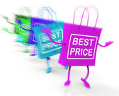 Best Price Shopping Bags Show Deals on Merchandise and Products — Stock Photo