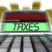 Taxes Calculated Means Taxation Of Income And Earnings — Stock Photo