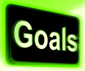 Goals Sign Shows Aims Objectives Or Aspirations — Stock Photo