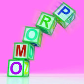 Promo Letters Mean Bargain Reduced Price Or Special — Stock Photo