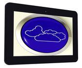 Cloud Tablet Means Rain Rainy Weather — Stock Photo