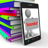 Scandal Phone Means Scandalous Act Or Disgrace — Stock Photo