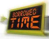 Borrowed Time Digital Clock Shows Terminal Illness And Life Expe — Stock Photo