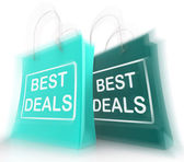 Best Deals Shopping Bags Represent Bargains and Discounts — Stock Photo