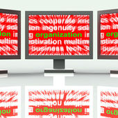 Organization Monitors Shows Institution  Or Be Organized — Stock Photo