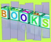 Books Word Shows Novels Non-Fiction And Reading — Stock Photo