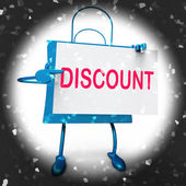 Discount Shopping Bag Shows Markdown Products and Bargains — Stock Photo