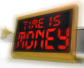 Time Is Money Digital Clock Shows Valuable And Important Resourc — Stock Photo