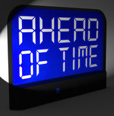 Ahead Of Time Digital Clock Shows Earlier Than Expected — ストック写真