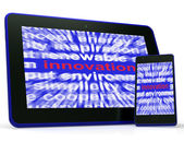 Innovation Tablet Shows Originality Creating And Improving — Stock Photo