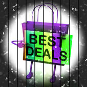 Best Deals Shopping Bag Represents Bargains and Discounts — Stock Photo