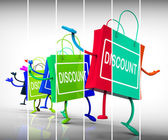 Discount Shopping Bags Show Sales, Bargains, and Discounts — Stock Photo