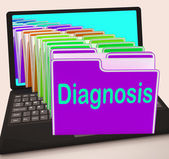 Diagnosis Folder Laptop Shows Medical Conclusions And Illness — Stock Photo